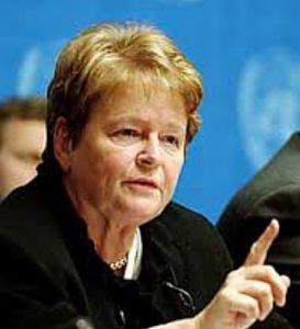 GRO harlem Bruntland, statsminister mai 1986 - oktober 1089 og november 1990 - oktober 1996