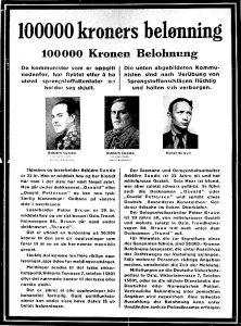 Etterlysing av Sunde og Bruun 1943