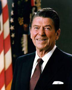 US President Ronald Reaga, 1980-88