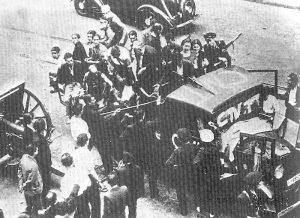Arbeidermilits i Barcelona juli 1936
