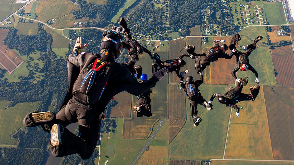 The Birth of Sequential Formation Skydiving